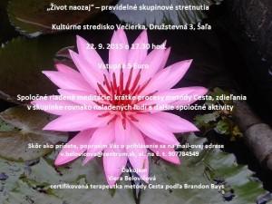 Lotosový kvet pozvánka